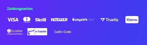 Megarush Zahlungsarten
