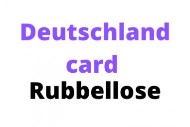 """Deutschlandcard Rubbellose  """"Dreh durch vor Freude"""""""