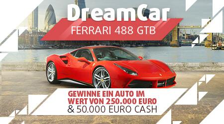 Ferrari 488 GTB + 50.000 EUR in bar